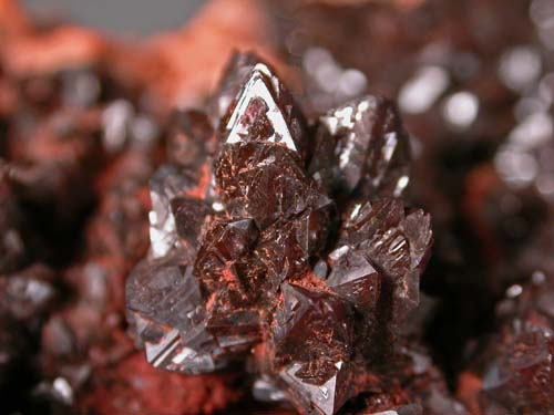 Descloizite, Calcite