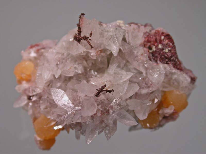 Copper. Calcite, Mimetite