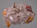 Copper. Calcite, MimetiteTsumeb, Namibia, Copper