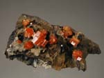 Vanadinite, GoethiteMorocco, Vanadinite, Taouz, Er Rachidia, Tafilalet