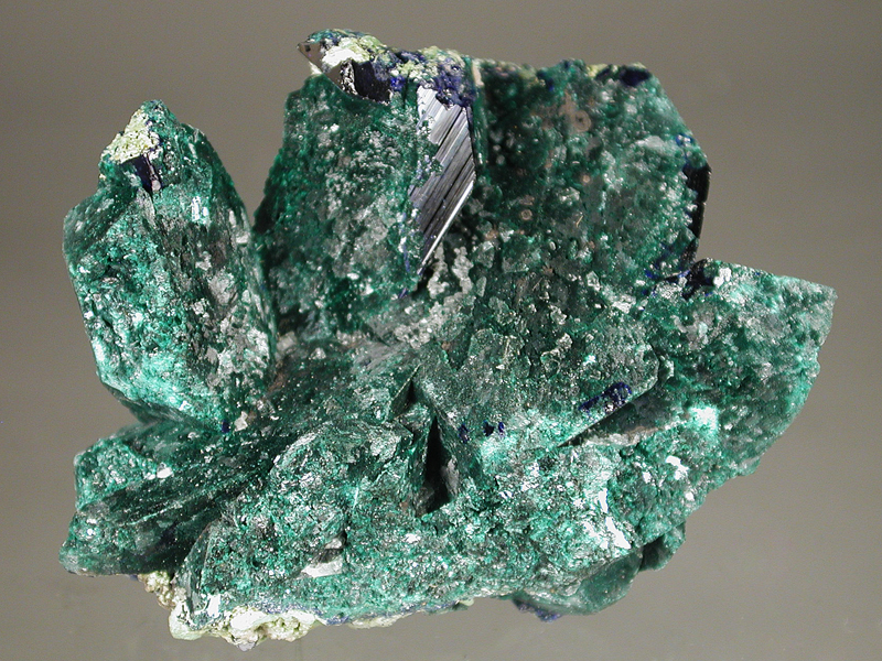 Malachite coated Azurite