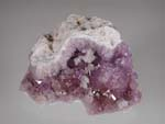 Quartz, var Amethyst, ChabaziteZeolites, Bay of Fundy, Nova Scotia, Chabazite