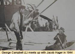 George Campbell meets Jacob Hager, 1944