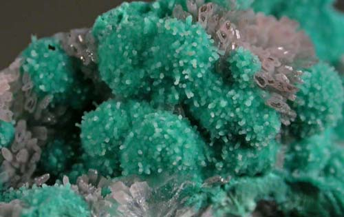 Chrysocolla on Rosasite, with Hemimorphite, 79 Mine, Gila Co., AZ