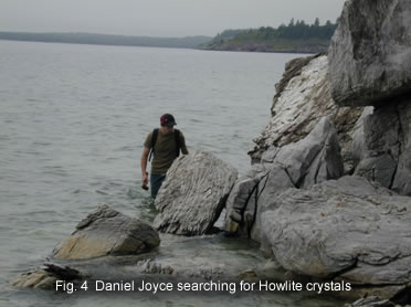 Fig. 4  Daniel Joyce searching for Howlite crystals