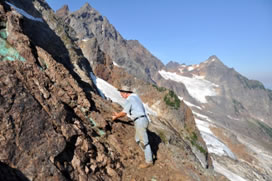 Collecting at Foley Peak, British Columbia