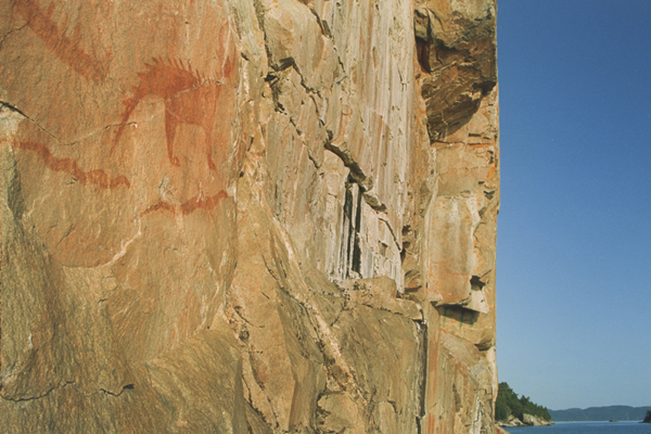 Pictographs, Lake Superior Provincial Park, Ontario