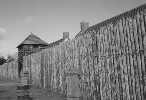 Fort William Trading Post (constructed as the original was constructed, early 19th century)