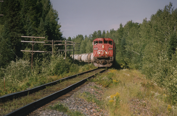 CNR train near Armstrong, Thunder Bay District, Ontario