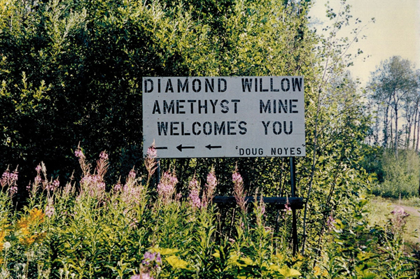 Arrival at the Diamond Willow Mine (I. Nicklin photo)